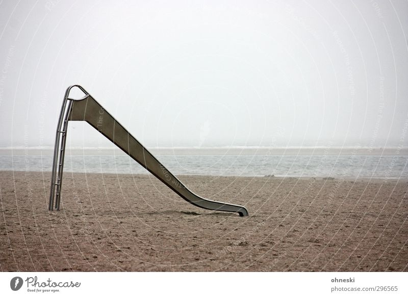 Sandrutsche Meer Einsamkeit Strand Ferne Spielen Küste Nordsee stagnierend Rutsche Unlust Langeoog