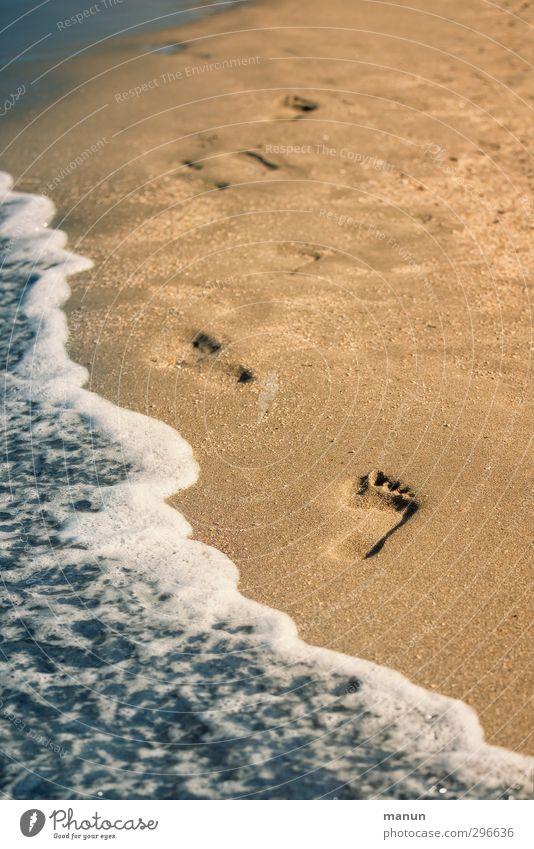 fußgesund Gesundheit Leben Wohlgefühl Zufriedenheit Sinnesorgane Erholung Kur Ferien & Urlaub & Reisen Sommer Sommerurlaub Meer Wellen wandern Natur Sand Wasser