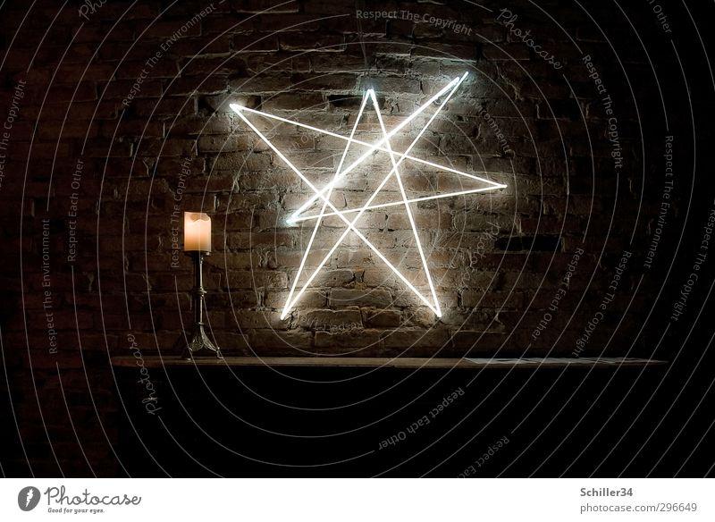 Erleuchtet. ruhig gelb Wand Gefühle Mauer Berlin Denken Stein Lampe Kunst leuchten Dekoration & Verzierung Energie Tisch Feuer Stern (Symbol)