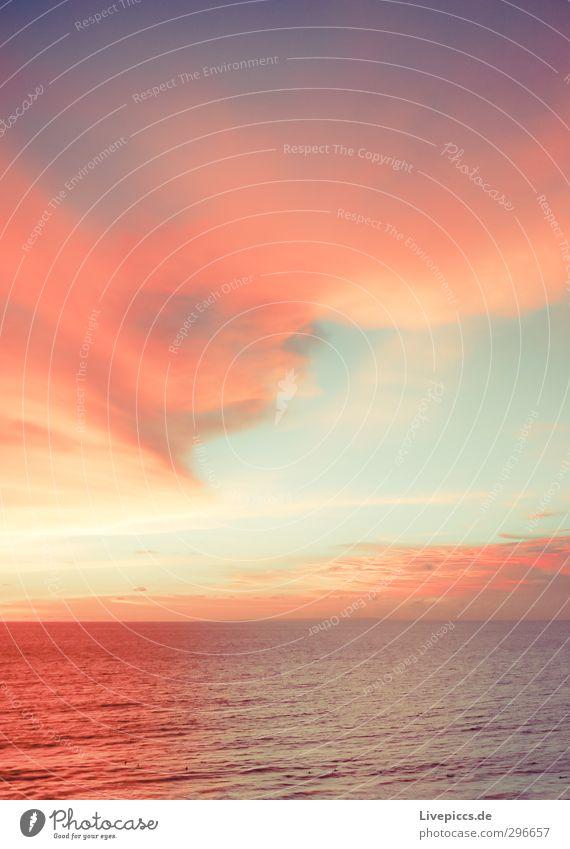 oh Bali Himmel Natur Wasser Sommer Sonne Meer Landschaft Wolken ruhig Strand Ferne Freiheit Küste hell Horizont orange