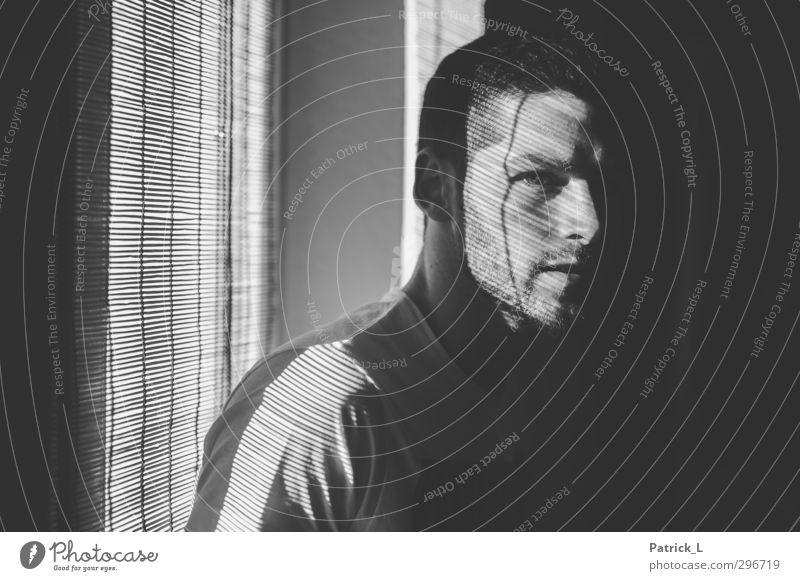 Hendryk maskulin Mann Erwachsene Leben Kopf 1 Mensch 18-30 Jahre Jugendliche authentisch sportlich verborgen Kurzhaarschnitt Autofenster geheimnisvoll