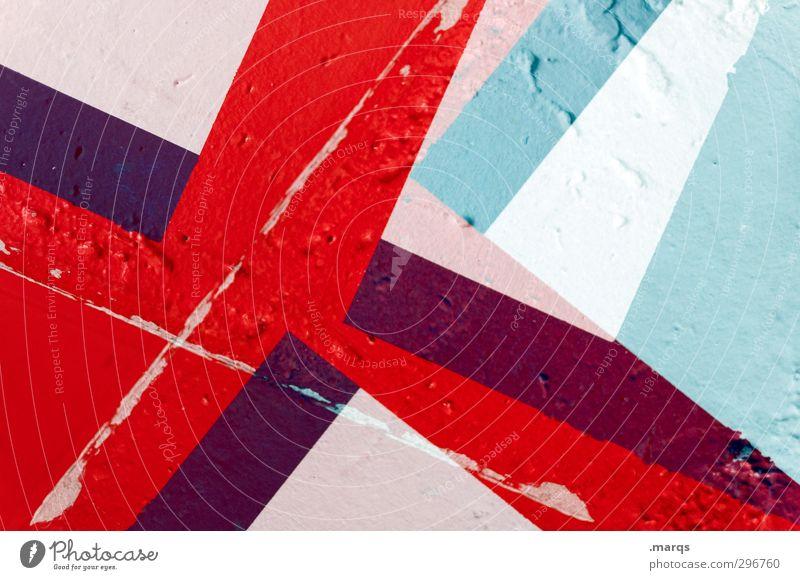 10 Jahre elegant Stil Design Mauer Wand Beton Zeichen Linie Streifen außergewöhnlich Coolness trendy einzigartig modern rot türkis weiß Perspektive Irritation