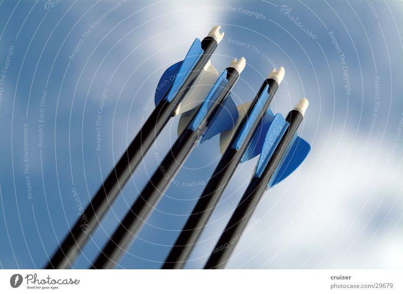 Pfeile Himmel blau Sport Pfeil Bogen Bogensport