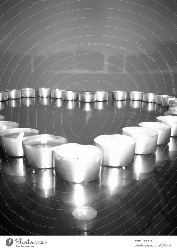 Kerzen Herz Teelicht grau weiß Kerzenschein Muttertag Dinge Liebe Schwarzweißfoto