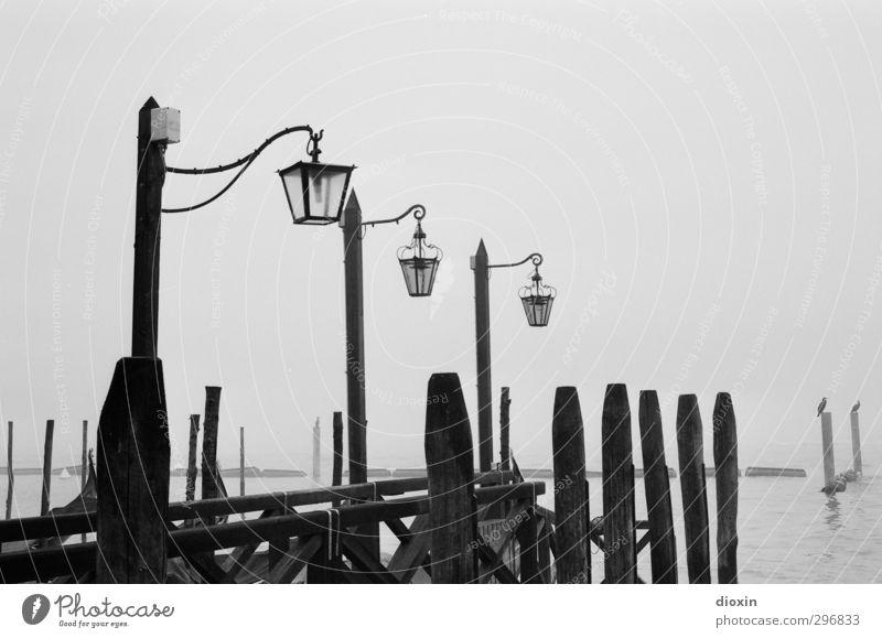 Analogue Venice [1] Ferien & Urlaub & Reisen Stadt Meer Winter kalt Lampe Wetter Nebel Insel Tourismus Italien Hafen Laterne Schifffahrt Anlegestelle Sightseeing