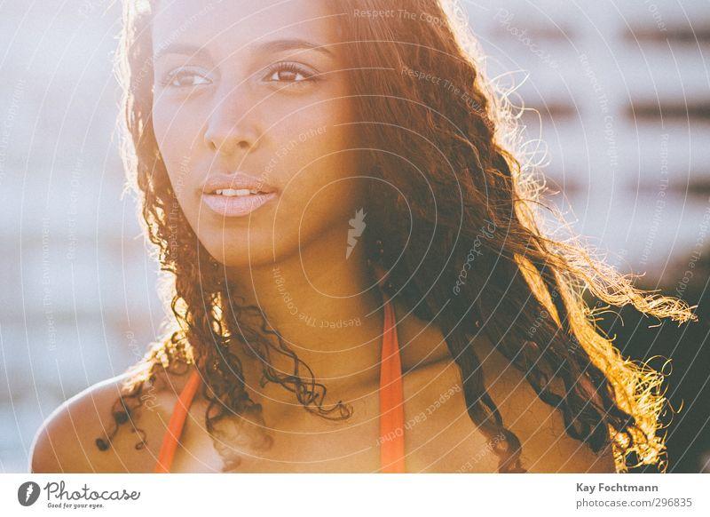 ° elegant exotisch schön Haare & Frisuren Gesicht Freiheit Sommer Sommerurlaub Mensch feminin Junge Frau Jugendliche Erwachsene Leben 1 18-30 Jahre Bikini