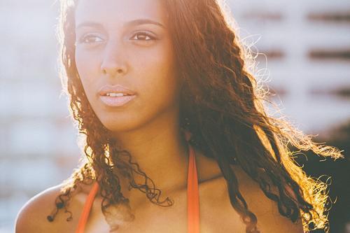 ° Mensch Frau Jugendliche schön Sommer Erholung Junge Frau Gesicht Erwachsene Ferne Leben feminin Haare & Frisuren Freiheit 18-30 Jahre träumen