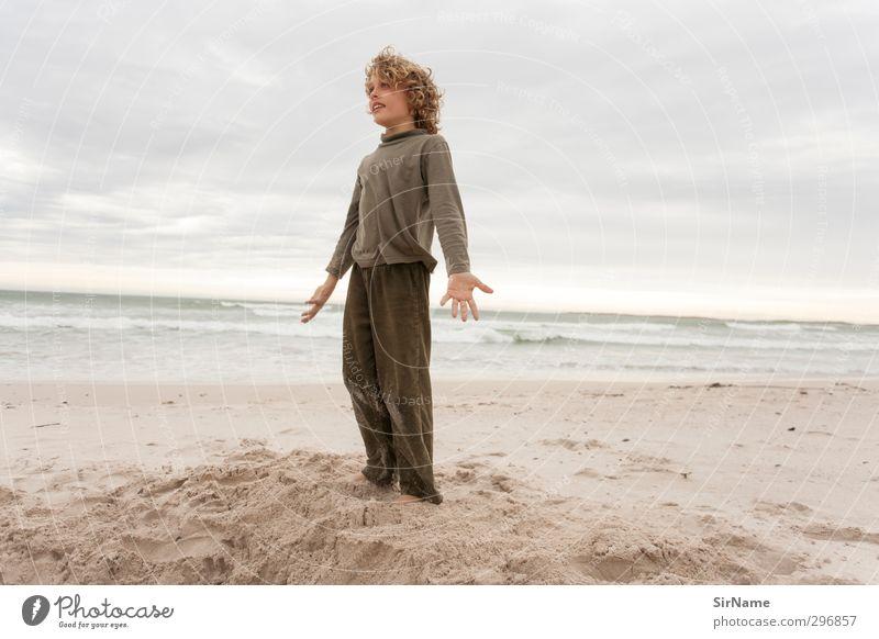226 [elementarerlebnis] Mensch Kind Natur Ferien & Urlaub & Reisen Meer Landschaft Strand Ferne Leben Junge Freiheit natürlich Stimmung Kindheit Wellen