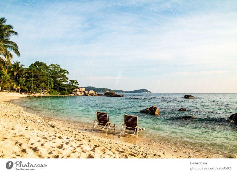 zweisam Himmel Ferien & Urlaub & Reisen Natur schön Landschaft Meer Erholung ruhig Ferne Strand Küste Tourismus außergewöhnlich Freiheit Ausflug träumen
