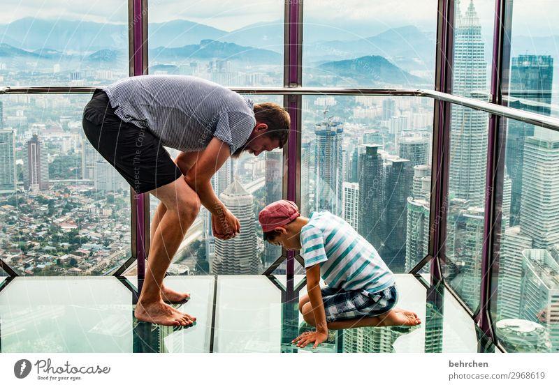 wertvoll | gemeinsam staunen Ferien & Urlaub & Reisen Tourismus Ausflug Abenteuer Ferne Freiheit Kind Junge Mann Erwachsene Eltern Vater