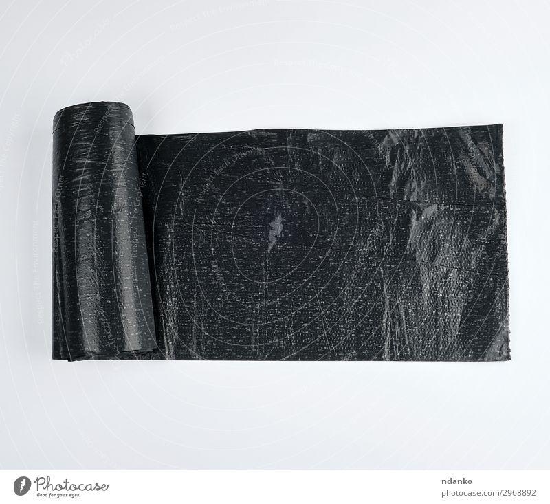 schwarze Plastiktüte für Mülltonnen Umwelt Container Paket Kunststoff neu Sauberkeit weiß Farbe Umweltverschmutzung Umweltschutz Tasche Behälter Entwurf