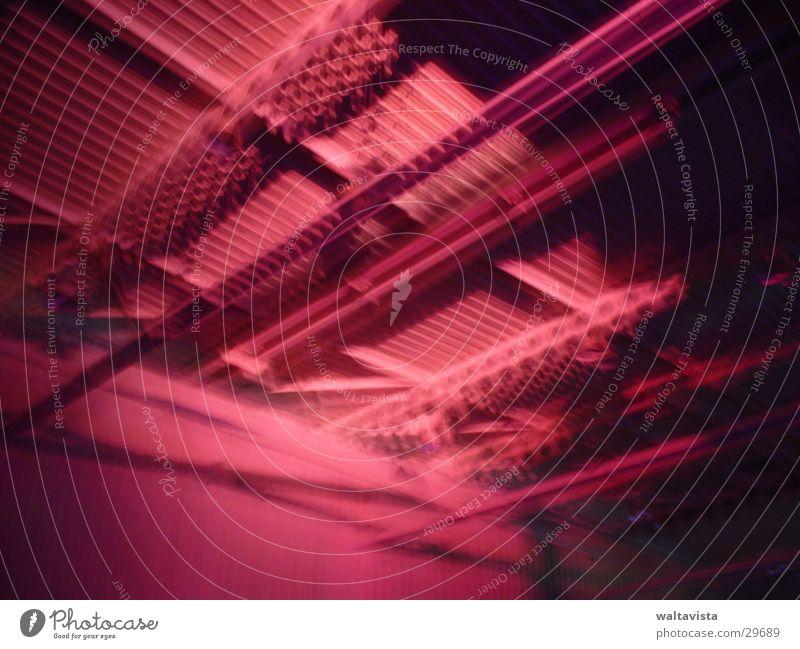 deckenkonstruktion rot Architektur Stahl Lagerhalle Balken Fuzzy Q. Jones