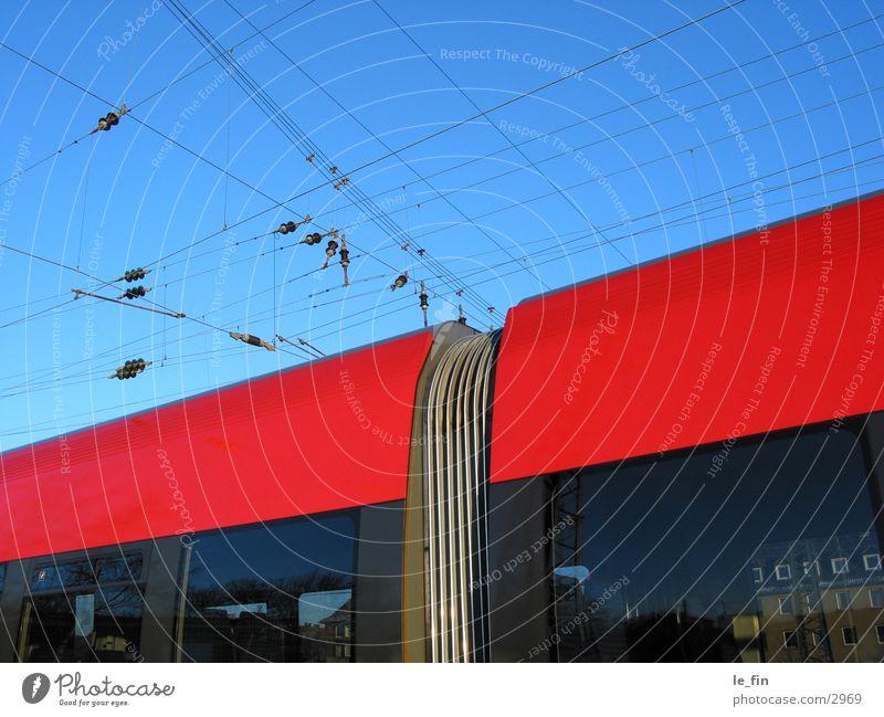 gute verbindung blau rot Eisenbahn Elektrizität Technik & Technologie Kabel Elektrisches Gerät