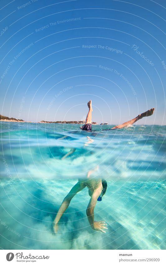 standhaft Mensch Jugendliche Ferien & Urlaub & Reisen Wasser Sommer Meer Freude Strand Erholung Leben Bewegung Junge Glück Schwimmen & Baden Sand Kindheit