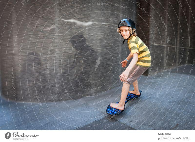 228 [high-speed inner city] Mensch Kind Jugendliche Freude Wand Sport Junge Wege & Pfade Architektur Mauer Gebäude Kindheit Fassade Freizeit & Hobby frei Platz