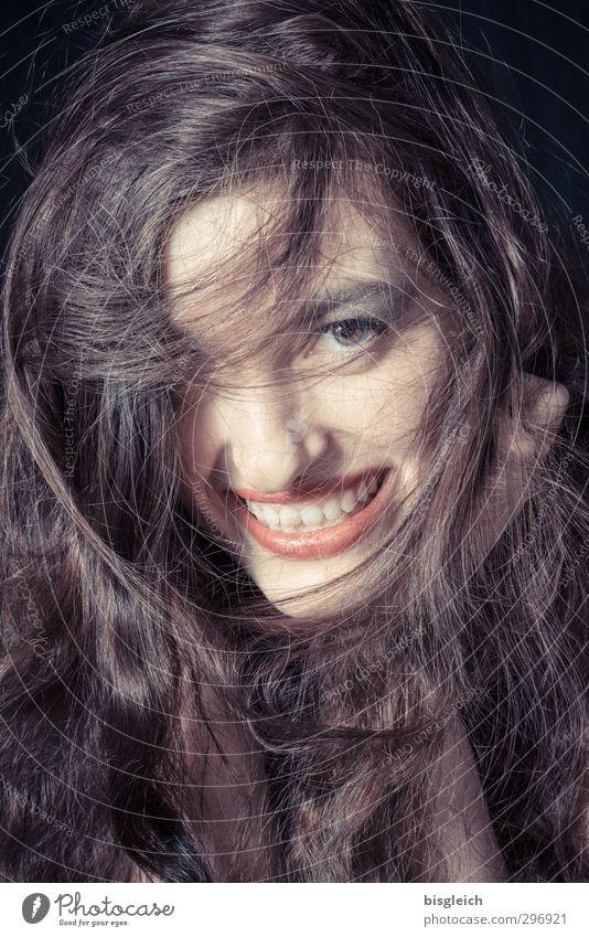 Katharina 13 Mensch feminin Junge Frau Jugendliche Haare & Frisuren Gesicht Auge Mund brünett langhaarig lachen Fröhlichkeit schön braun Freude Glück Farbfoto