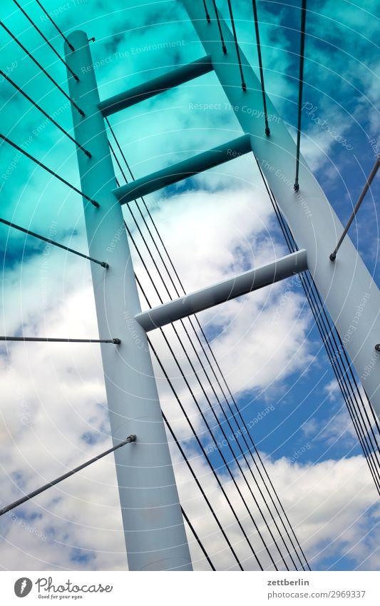 Rügendamm Himmel Ferien & Urlaub & Reisen Natur Himmel (Jenseits) Meer Wolken Reisefotografie Tourismus Textfreiraum Insel Perspektive Brücke Beton neu Ostsee
