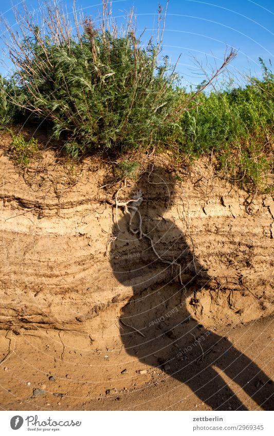 Seltsamer Schatten Mensch Ferien & Urlaub & Reisen Natur Reisefotografie Strand Küste Tourismus Sand Insel Perspektive Ostsee Bild Rügen Mecklenburg-Vorpommern
