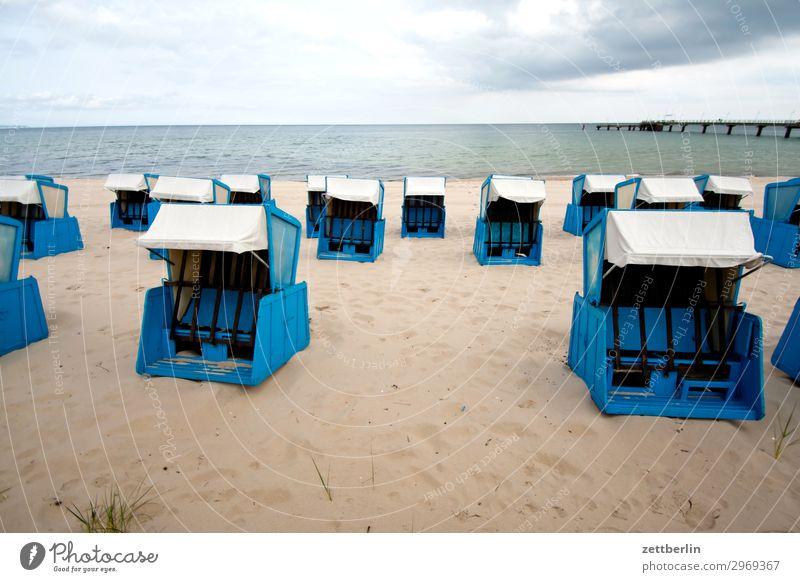 Strandkörbe Ferien & Urlaub & Reisen Insel Küste Mecklenburg-Vorpommern Meer mönchgut Natur Ostsee Ostseeinsel Reisefotografie Rügen Sand Sandstrand Tourismus