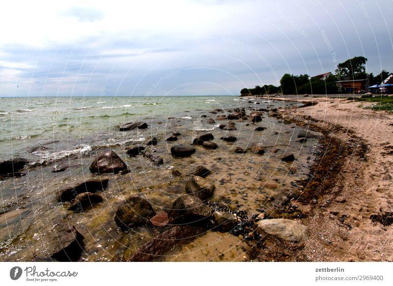 Klein Zicker Himmel Ferien & Urlaub & Reisen Natur Himmel (Jenseits) Meer Wolken Reisefotografie Ferne Strand Küste Tourismus Stein Sand Horizont Insel