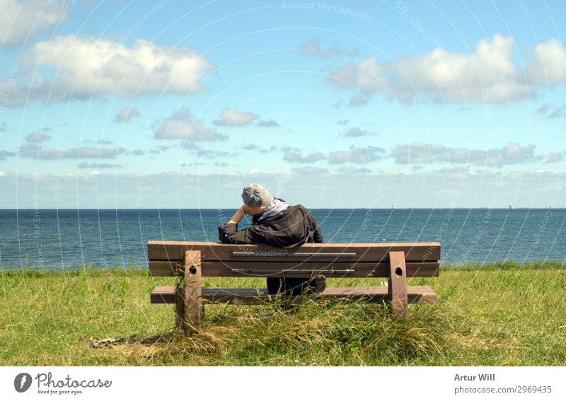 Meeresblick Wohlgefühl Zufriedenheit Erholung ruhig Meditation Kur Ferien & Urlaub & Reisen Tourismus Ausflug Ferne Freiheit Sommer Sommerurlaub Sonne Wellen