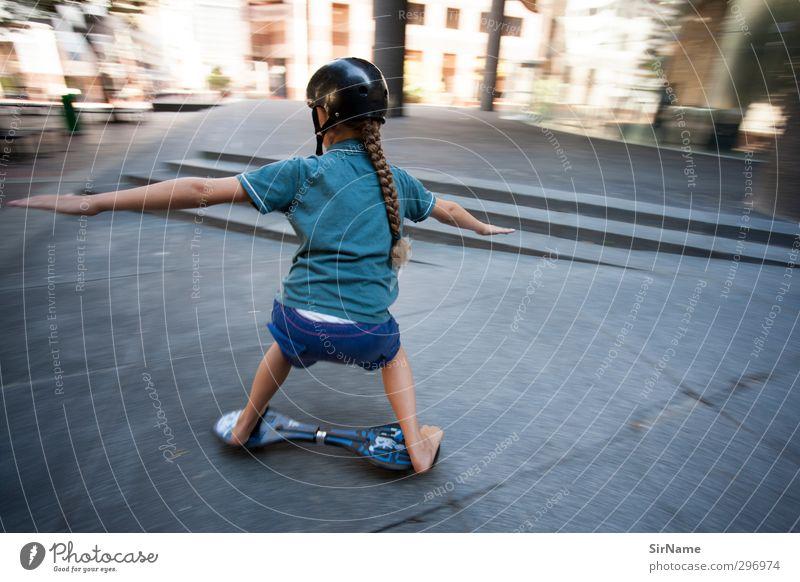 229 [high-speed inner city] Mensch Kind Jugendliche Stadt Freude Sport Bewegung Junge Wege & Pfade Architektur Kindheit Treppe Freizeit & Hobby Zufriedenheit