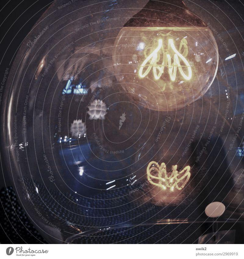 Panoptikum Lampe Draht glühen Leuchtspur Leuchtkörper Glühdraht Glas Metall Kunststoff Zusammensein rund viele bizarr durcheinander Farbfoto Gedeckte Farben