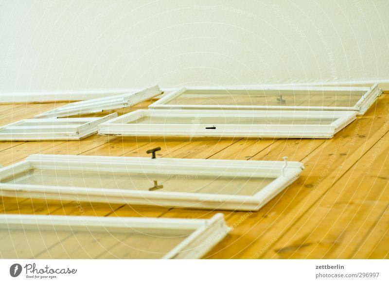 Frisch gestrichen weiß Fenster Wand Innenarchitektur Mauer Raum Wohnung frisch Häusliches Leben Zukunft neu Umzug (Wohnungswechsel) Wohnzimmer trocknen