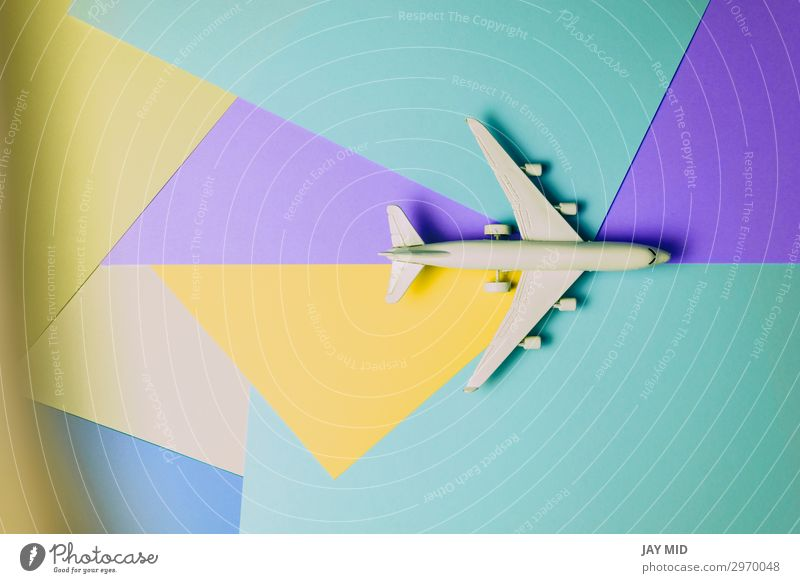 Passagierflugzeug, Minimalkonzept für Reisen Design Leben Ferien & Urlaub & Reisen Tourismus Ausflug Sommer Business Kunst Himmel Verkehr Personenverkehr