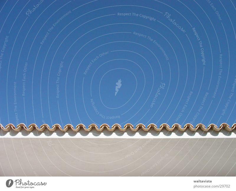 dach Himmel blau Architektur Ecke Dach Spanien Schönes Wetter Dachziegel