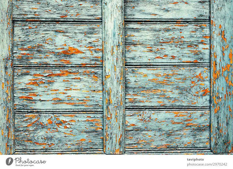 alte beschädigte Lackschicht auf Holzoberfläche Design dreckig natürlich retro braun grün Farbe Konsistenz sich[Akk] schälen gekratzt strukturell texturiert