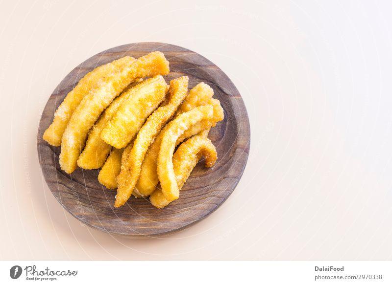 Tintenfisch paniert und gebraten (typische Tapas in Spanien) Chocos. Meeresfrüchte Mittagessen Abendessen Teller Restaurant Gastronomie füttern frisch lecker