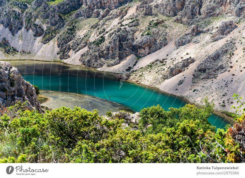 Zrmanja-Schlucht in Kroatien (1) Umwelt Natur Landschaft Urelemente Wasser Frühling Pflanze Baum Felsen Berge u. Gebirge Fluss ästhetisch außergewöhnlich silber