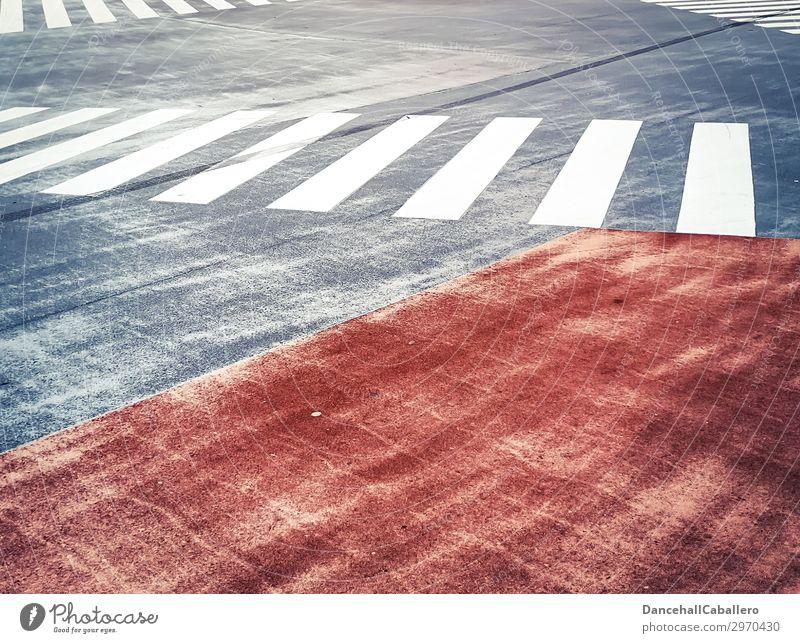 Die wunderbare Welt der Geometrie l 11 Stadt weiß rot Straße Hintergrundbild Wege & Pfade grau Design Linie Verkehr modern Streifen graphisch trendy