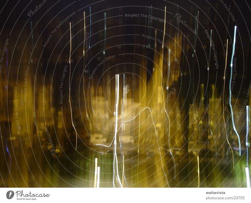 toulouse gelb Streifen Stadt Licht Langzeitbelichtung Unschärfe Straße