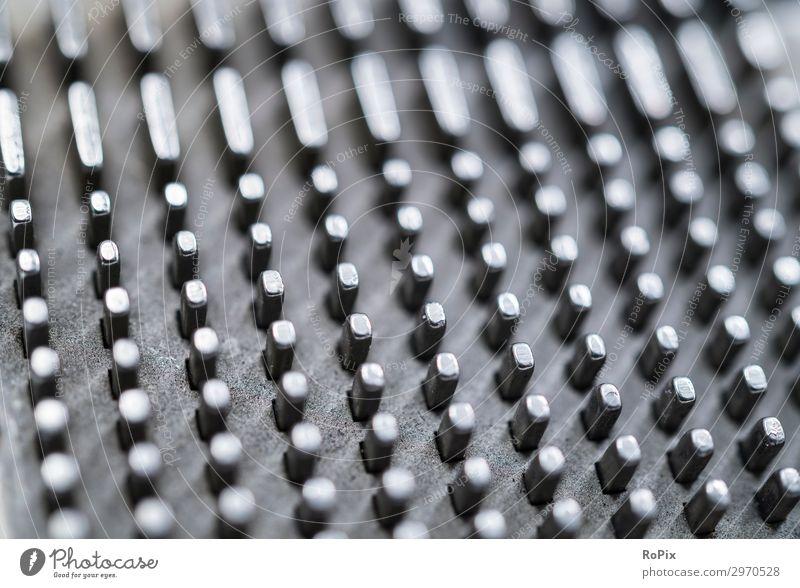 Detail einer mechanischen Rechenmaschine. Stil Design Bildung Wissenschaften Arbeitsplatz Fabrik Wirtschaft Industrie Werkzeug Maschine Technik & Technologie