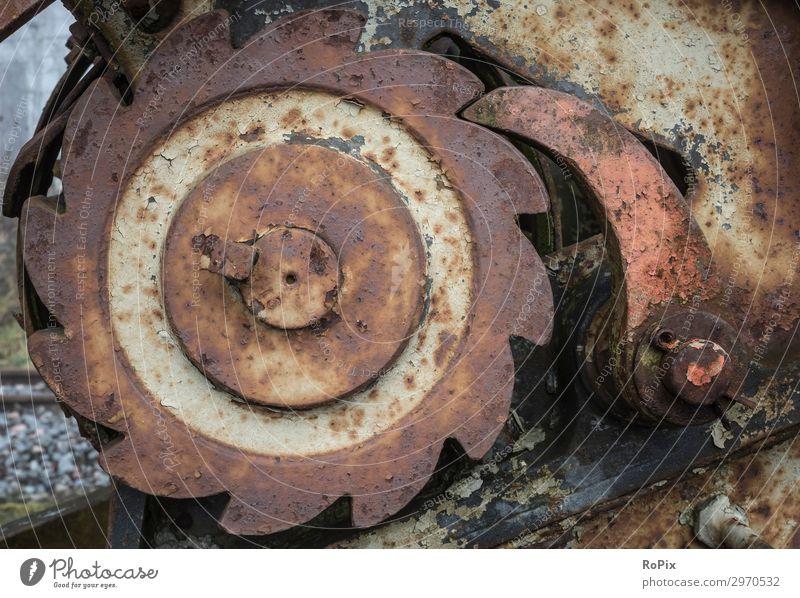 Blockiervorrichtung einer historischen Winde. Lifestyle Stil Arbeit & Erwerbstätigkeit Arbeitsplatz Fabrik Wirtschaft Landwirtschaft Forstwirtschaft Industrie