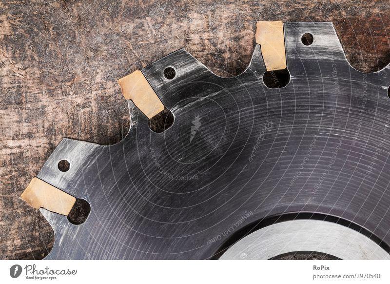 Fräswerkzeug mit Hartmetalleinsätzen. Design Arbeit & Erwerbstätigkeit Arbeitsplatz Fabrik Wirtschaft Industrie Handel Baustelle Unternehmen Werkzeug Maschine