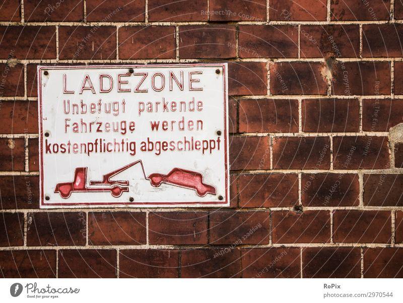 Ladezohne alt Straße Lifestyle Wand Arbeit & Erwerbstätigkeit PKW Verkehr Technik & Technologie kaufen Industrie Baustelle Güterverkehr & Logistik Städtereise