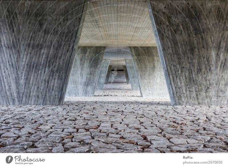Unter der Brücke Lifestyle Expedition Arbeitsplatz Baustelle Wirtschaft Technik & Technologie Wissenschaften Industrie Kunst Kunstwerk Skulptur Architektur