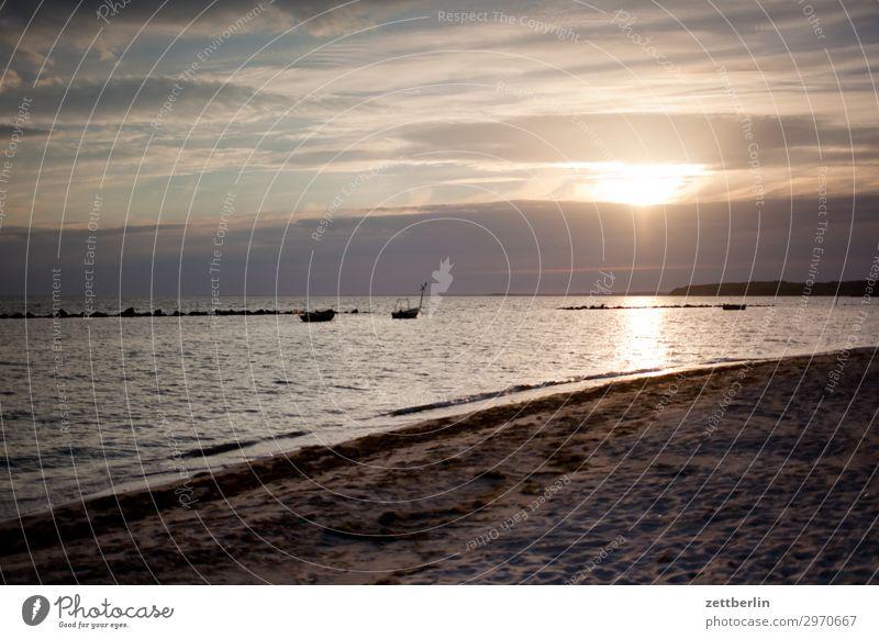 Von Thiessow nach Klein Zicker Insel Küste Mecklenburg-Vorpommern Meer mönchgut Ostsee Ostseeinsel Rügen Sand Sandstrand Strand Tourismus