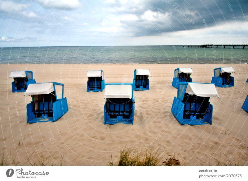 Strandkörbe am Strand Ferien & Urlaub & Reisen Insel Küste Mecklenburg-Vorpommern Meer mönchgut Natur Ostsee Ostseeinsel Reisefotografie Rügen Sand Sandstrand