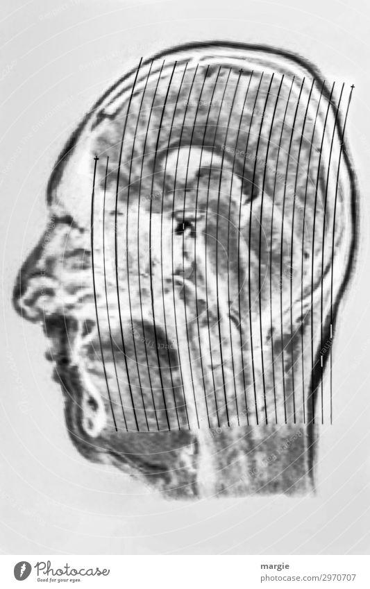 UT Kassel   Kopf Arzt Gesundheitswesen Technik & Technologie Mensch maskulin feminin androgyn Frau Erwachsene Mann Gesicht Nase Mund schwarz weiß Röntgenbild