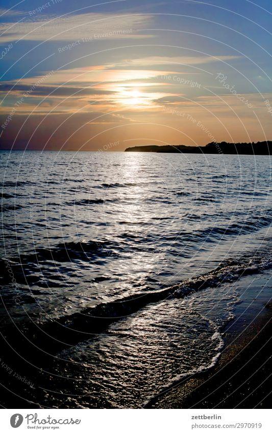 Sonnenuntergang Klein Zicker Ferien & Urlaub & Reisen Insel Küste Mecklenburg-Vorpommern Meer mönchgut Natur Ostsee Ostseeinsel Reisefotografie Rügen Strand