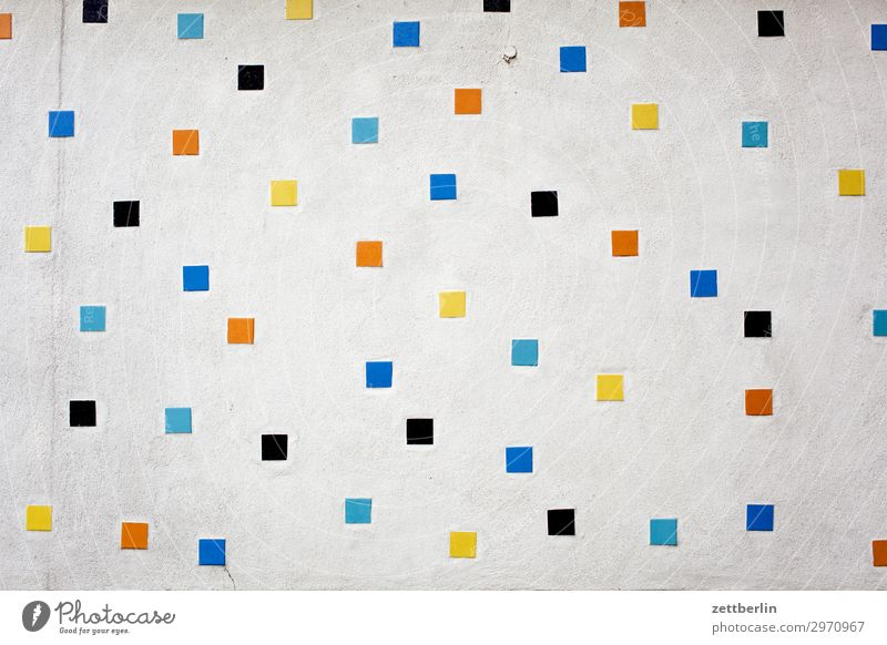 Bunte Quadrate Farbe Haus Wand Gebäude Kunst Textfreiraum Mauer Dekoration & Verzierung Fliesen u. Kacheln Mosaik Zierde Relief