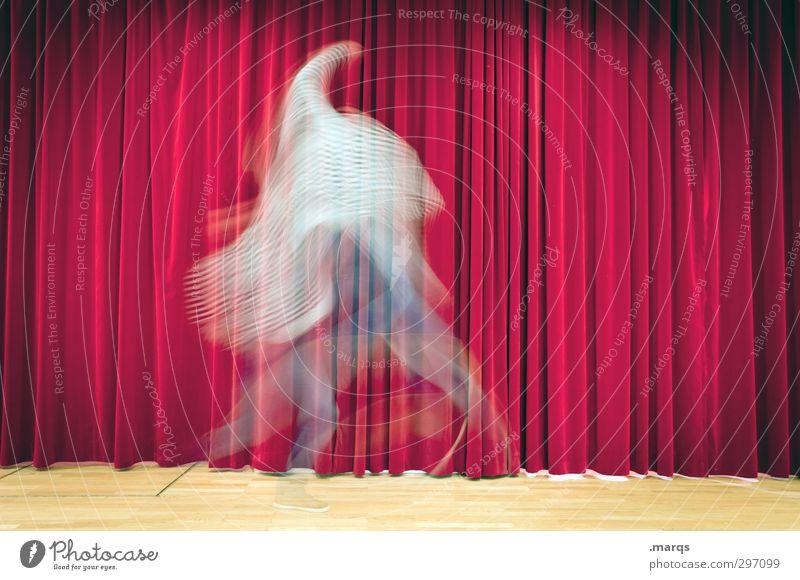 Freudensprung Stil Design Entertainment Mensch Erwachsene 1 Kunst Bühne Schauspieler Tanzen Tanzveranstaltung Tänzer Kultur Vorhang springen außergewöhnlich rot