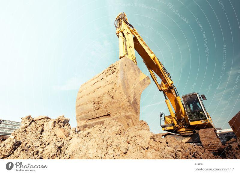 Am Baggerloch Arbeit & Erwerbstätigkeit Arbeitsplatz Baustelle Industrie Dienstleistungsgewerbe Mittelstand Umwelt Urelemente Erde Himmel Schönes Wetter Metall