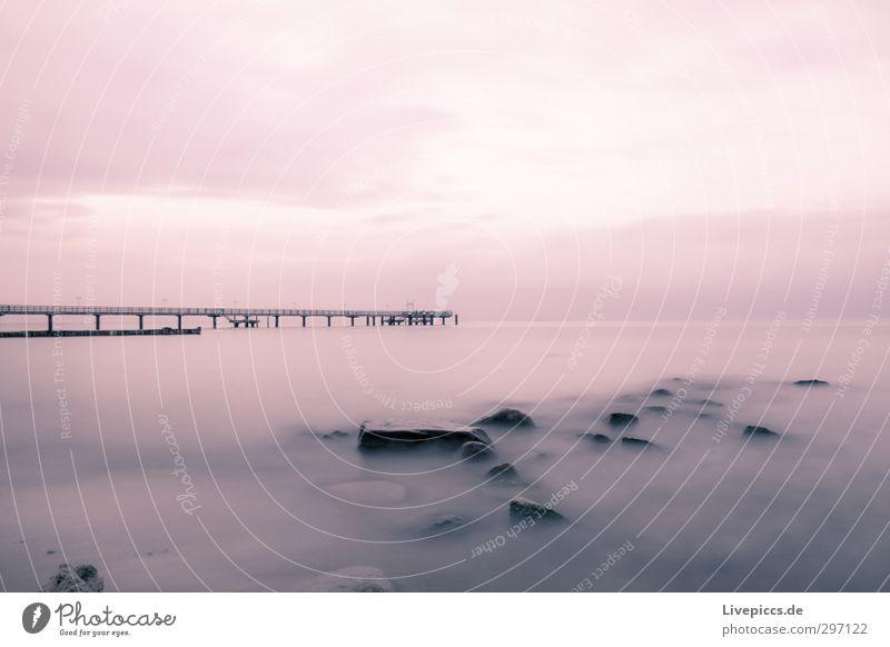 Ostseeküste Himmel Natur Wasser Meer Einsamkeit Landschaft Wolken Strand Herbst Freiheit Küste Stein Ausflug Brücke Gelassenheit