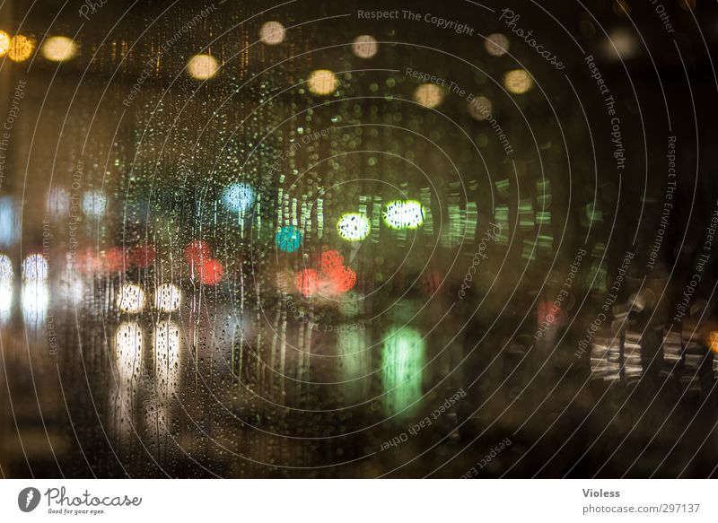 surprise dubai Licht Regen Regenwasser Unwetter Nacht Schwache Tiefenschärfe Unschärfe nass ungemütlich Reflexion & Spiegelung Fenster Fensterscheibe