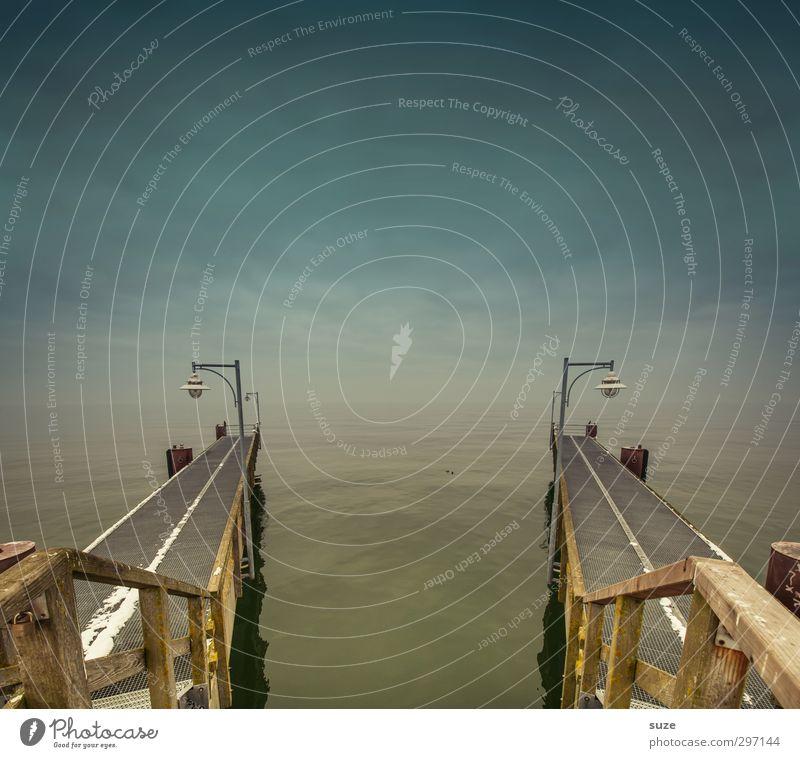 Alles hat ein Ende ... Ferien & Urlaub & Reisen Meer Umwelt Natur Urelemente Luft Wasser Himmel Horizont Klima Wetter Küste Nordsee Ostsee Wege & Pfade